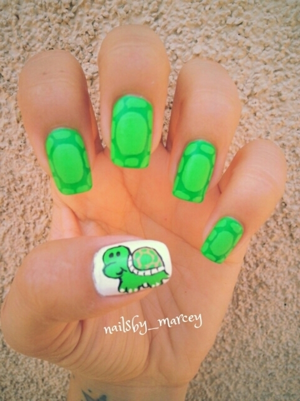 Happy World Turtle Day ! nail art by Marcela