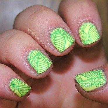 Leaves nail art by Agni