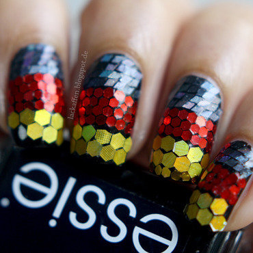 Germany World Cup Nails 2014  nail art by Tartelette