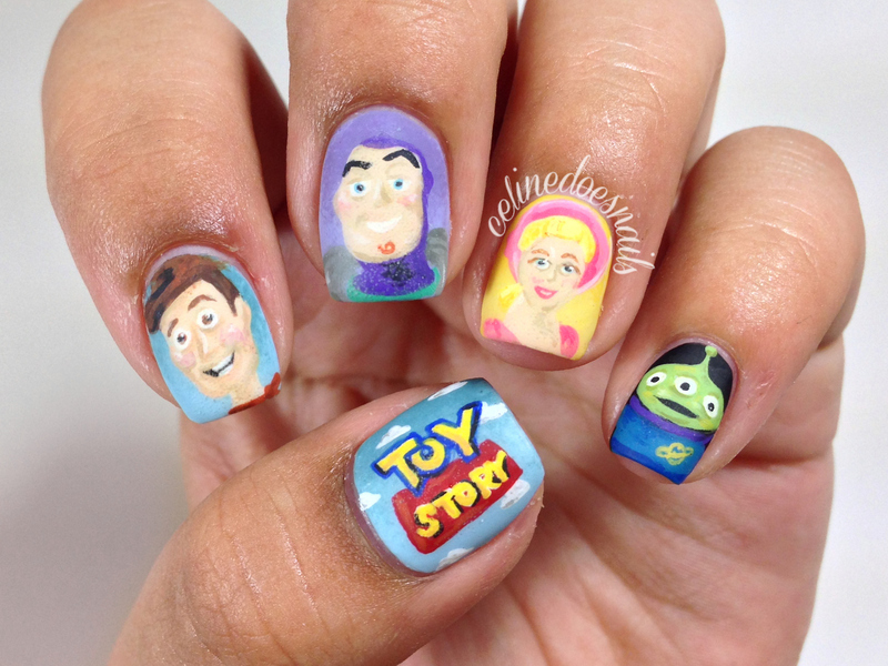 Toy Story Nail Art nail art by Celine Peña