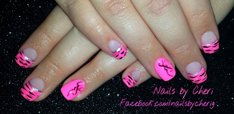 Pink camo nails on acrylic nail art by Cheri Grachek - Pink Camo Nails On  Acrylic - Pink Camo Nail Art Graham Reid