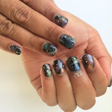 In a Galaxy far far away... nail art by Miriam