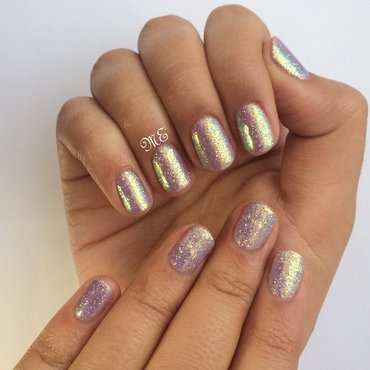 Iridescence  nail art by Miriam