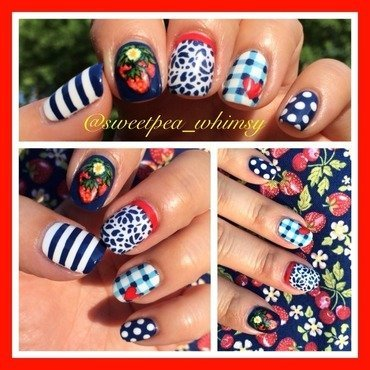 Summer Picnic nail art by SweetPea_Whimsy