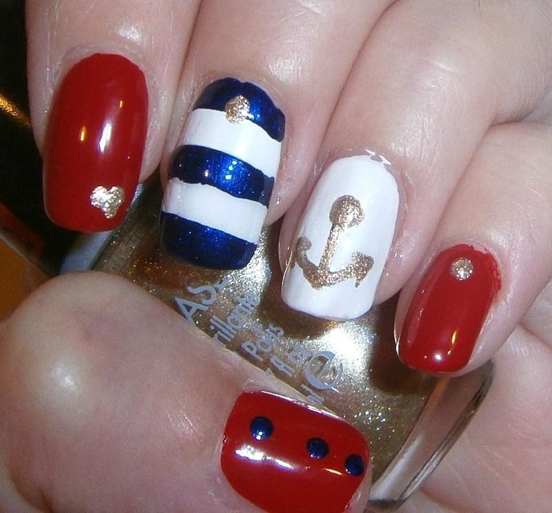 Marine nail art nail art by sissynailsmakeup - Nailpolis: Museum of ...