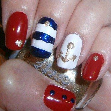 Marine nail art nail art by sissynailsmakeup