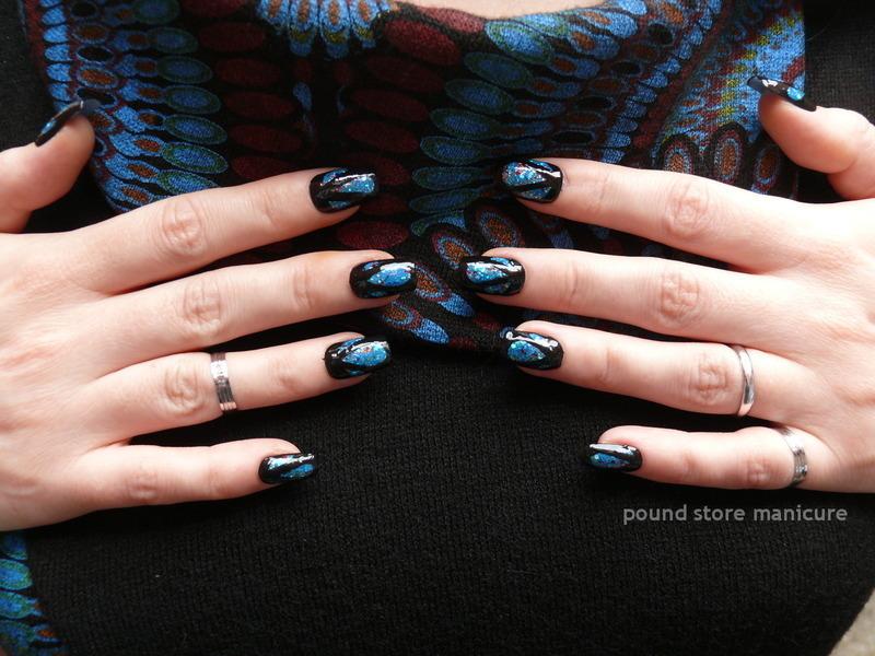 Inverse Glitter Nails nail art by Pound Store Manicure
