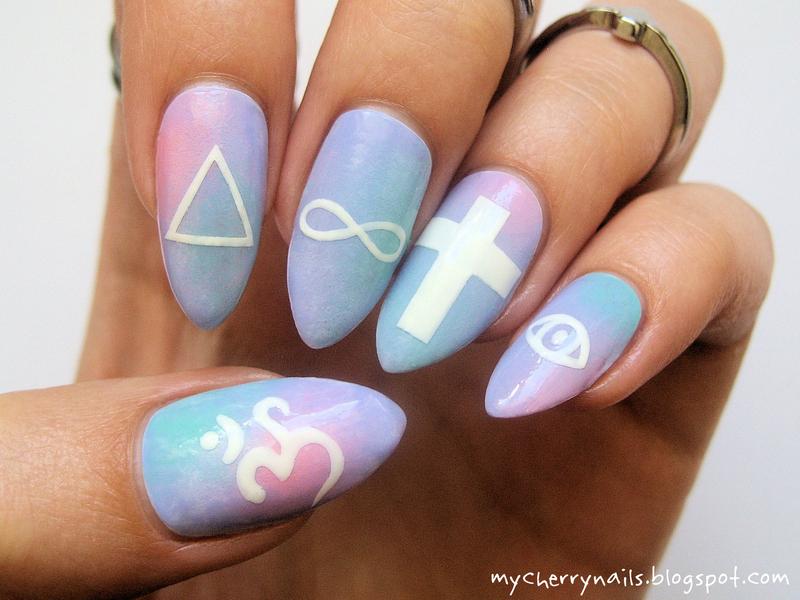 Illuminati nail art by Pauline