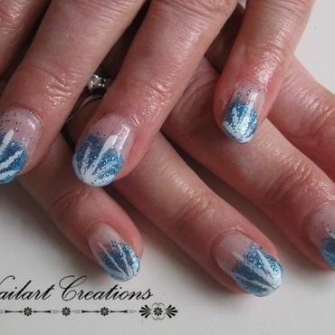 Blue Glitter Nailart nail art by Nailart Creations