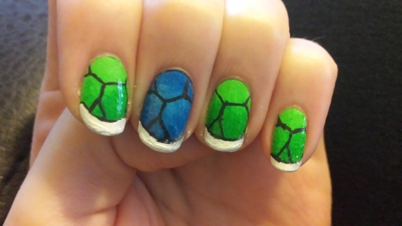 Turtle Shells nail art by Brittany Wanner