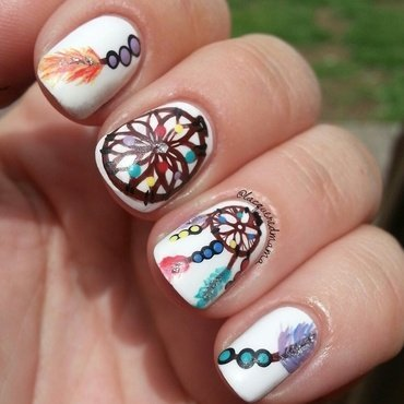 Dreamcatcher nail art by Jennifer Collins