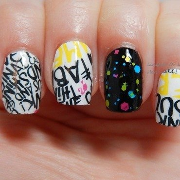 Urban Skittle Nail Art By Lacquer Or Leave Her Michelle Chouinard