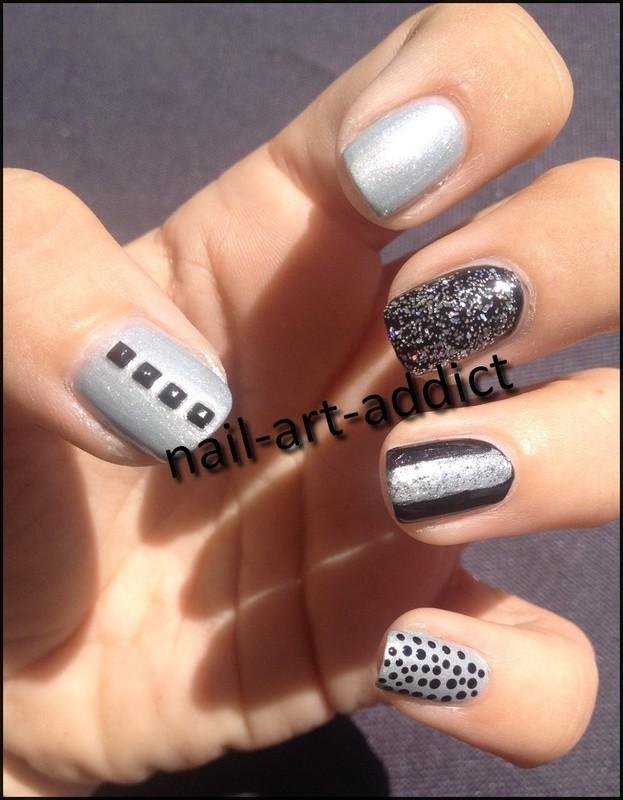 Manifeste Rock pour l'anniv de Pmabelle nail art by SowNails