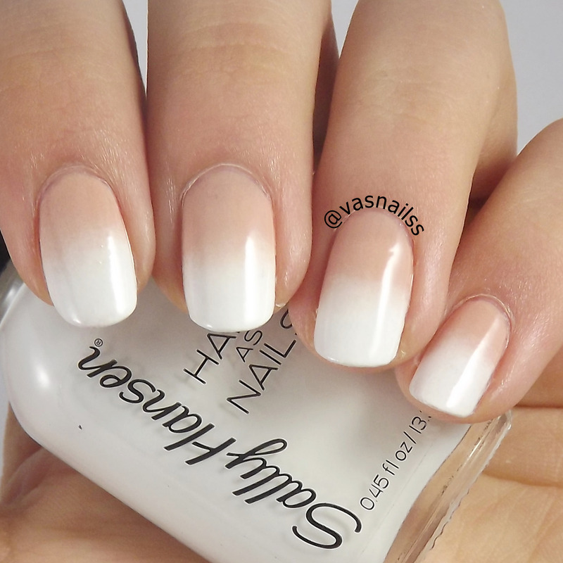 Nude And White Gradient Nail Art By Vanesa Nailpolis Museum Of