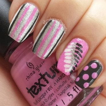 A feather in the raw nail art by funatyourfingertips