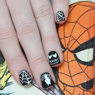 Venom nail art by Jordan