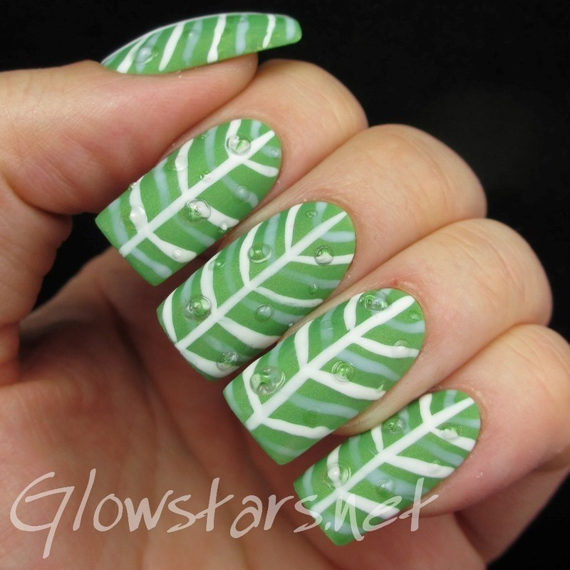 Fingerfood's Theme Buffet: Nature nail art by Vic 'Glowstars' Pires