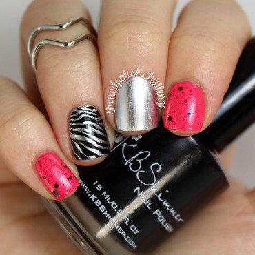 Pink Leopard Print Skittlette nail art by Kelli Dobrin