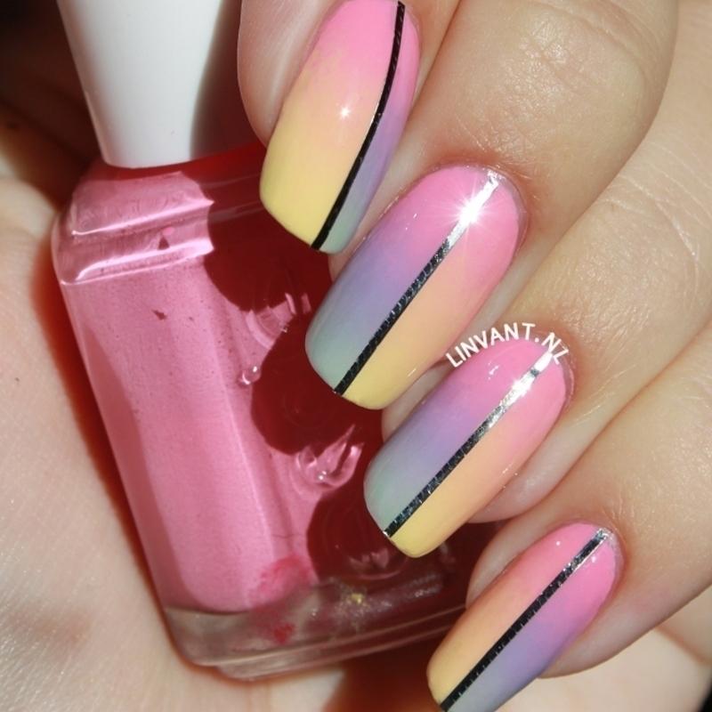 Twice as Happy Too nail art by Lin van T