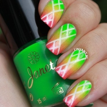 Neon Lights nail art by Lin van T