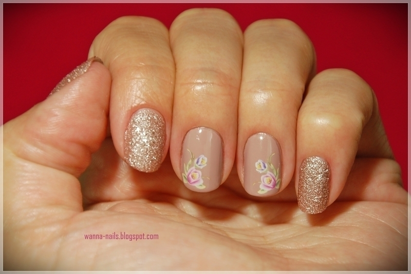 The kiss of spring nail art by Oana Chiciu