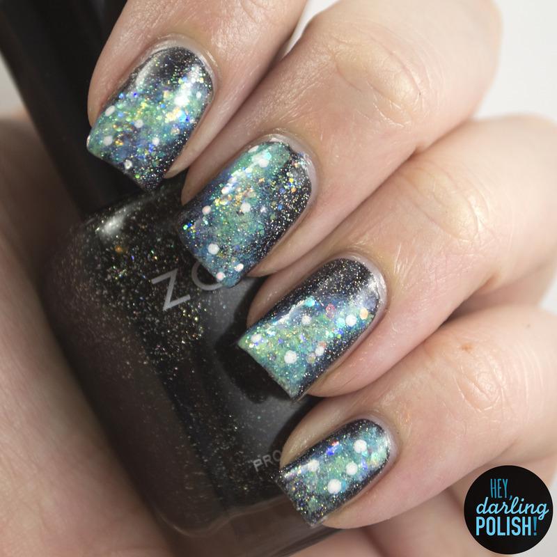 Galaxies nail art by Marisa  Cavanaugh