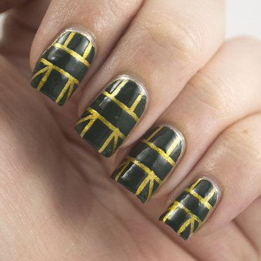 Nail art ideas linkup emerald tape 1 thumb370f