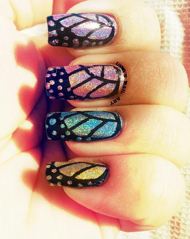 butterfly Wings. nail art by Uma mathur