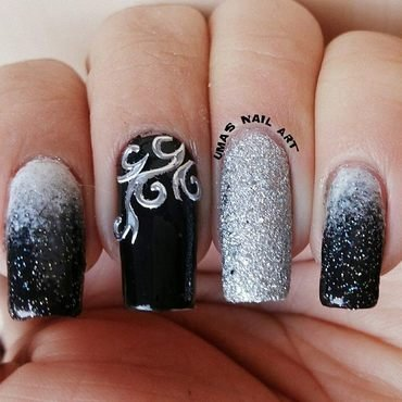 black Beauty. nail art by Uma mathur