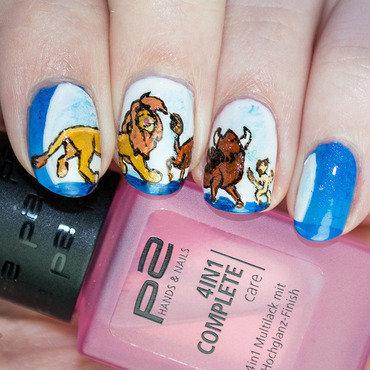 Rainpow nails disney week lion king 3 thumb370f