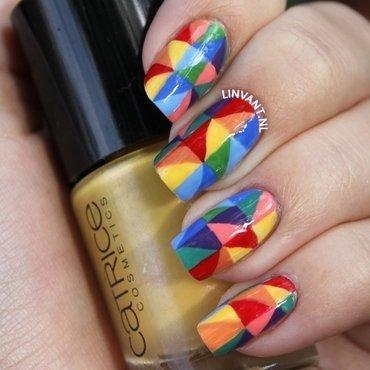 Rainbow Mosaik nail art by Lin van T