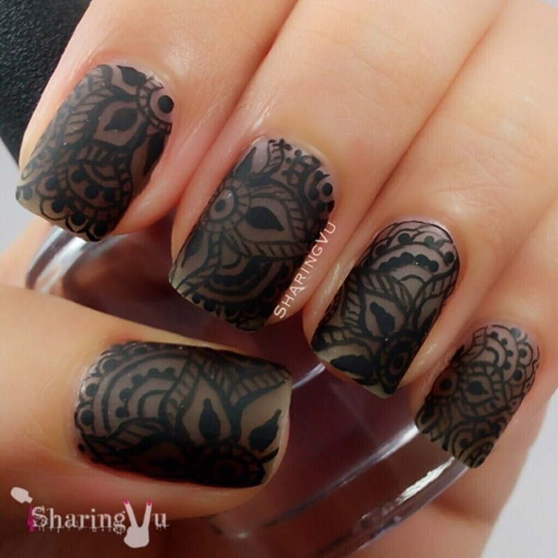 ♣️HENNA IN DA NAILS♣️ matte effect ♣️ nail art by SharingVu