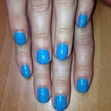 Cerulean Sea nail art by Caitlin Murphy