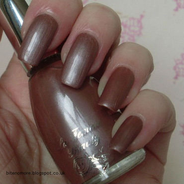 La Femme Brown Satin Swatch by Tracey - Bite no more
