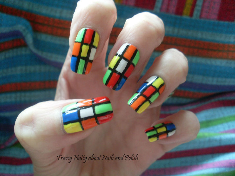 Rubik\'s Cube Nails nail art by Tracey - Bite no more - Nailpolis ...