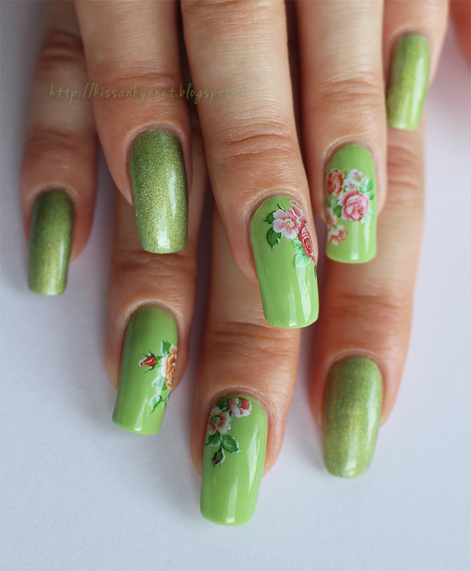 Miss Green Thumb nail art by Yue