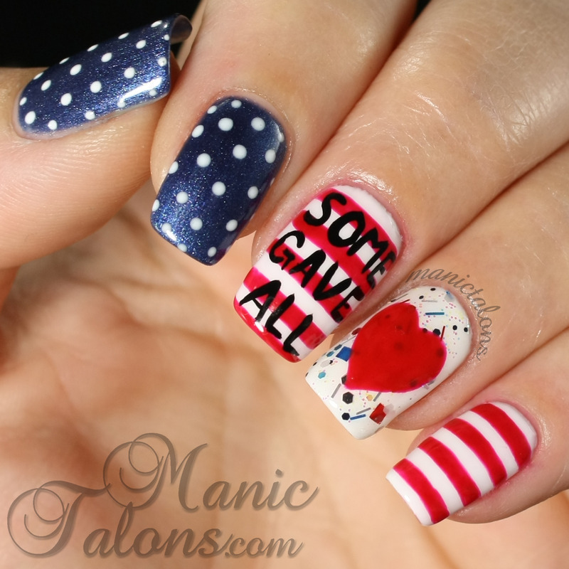 Memorail Day 2014: Some Gave All nail art by ManicTalons