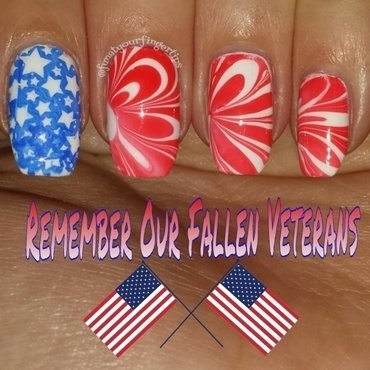 Memorial Day nail art by funatyourfingertips
