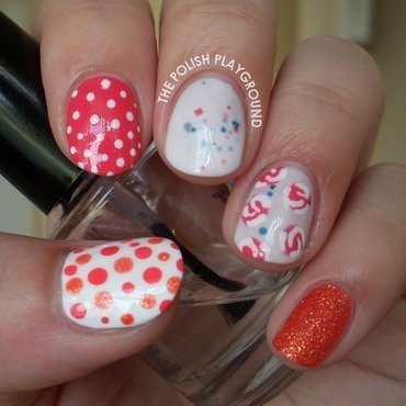 Girly skittle nail art thumb370f