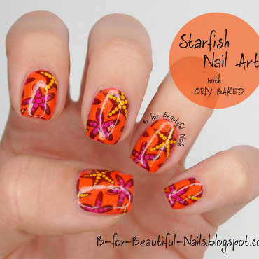 Starfish Nail Art ♥ nail art by B.
