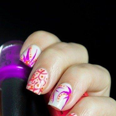 OPI Neons 2014 - Freehand Nail Art nail art by  Petra  - Blingfinger