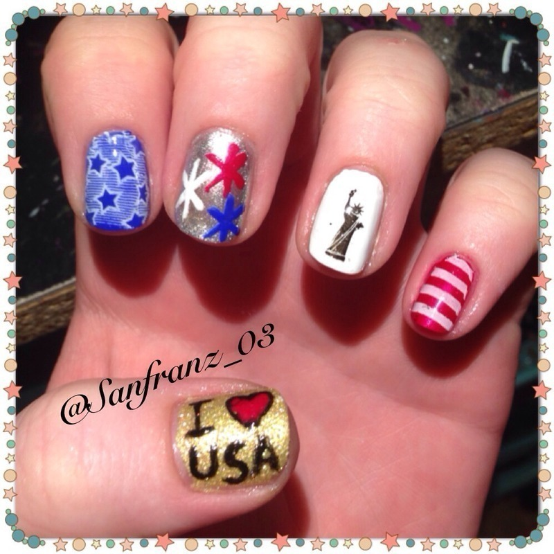 My Memorial Day nails! nail art by Sandy