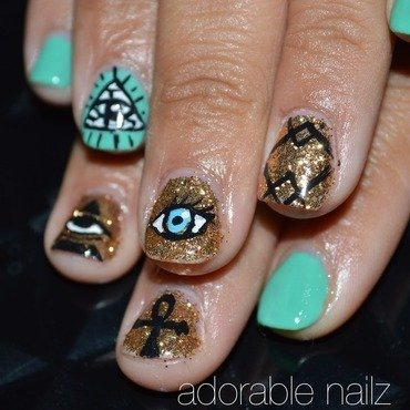 Evil eye nail art by Raquelle