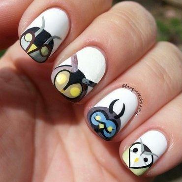 Owls nail art by Jennifer Collins