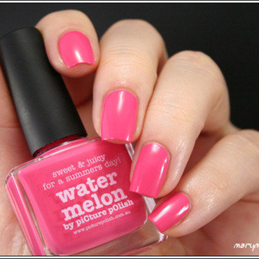 piCture pOlish Water Melon Swatch by Mary Monkett