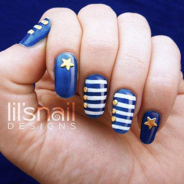 Blue Sailor Nails nail art by Lily-Jane Verezen