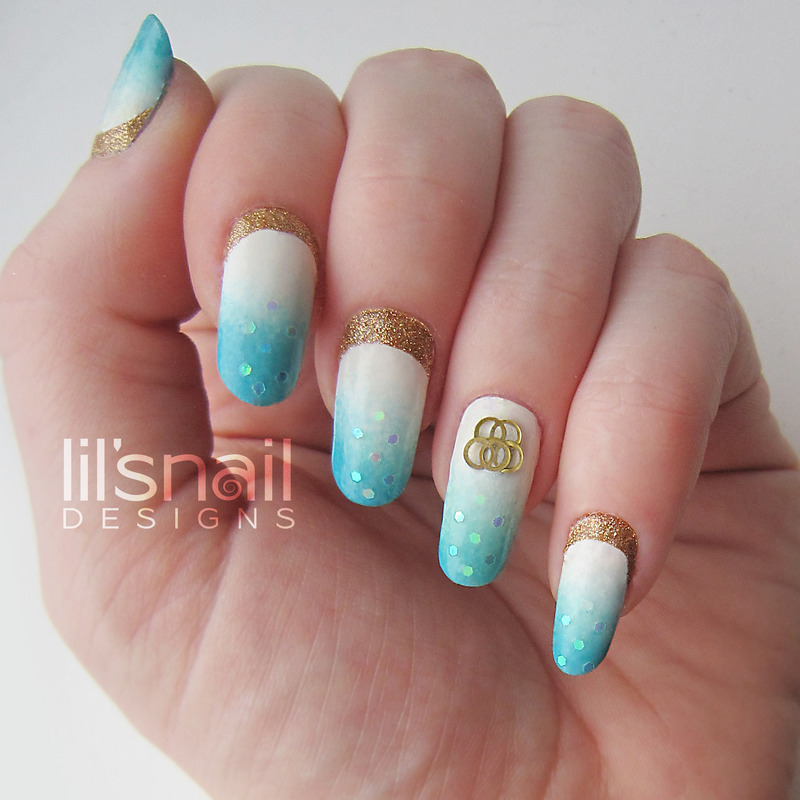 Olympic Games Sochi 2014 nail art by Lily-Jane Verezen