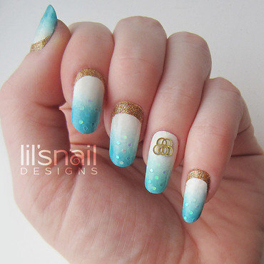Olympic Games Sochi 2014 nail art by Lily-Jane Verezen
