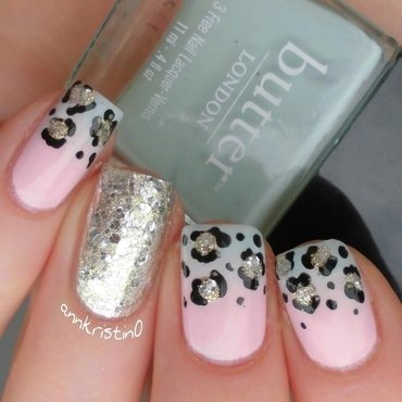 Leopard French Tips Ombré #2 nail art by Ann-Kristin