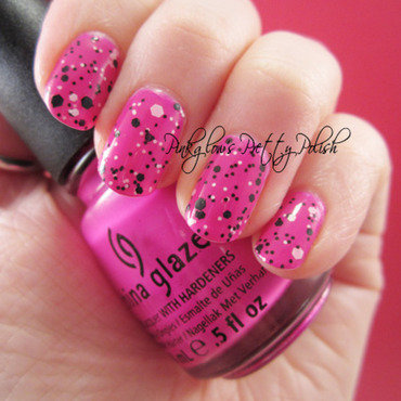 China Glaze Purple Panic and Maybelline Pretty in Polka Swatch by Pinkglow